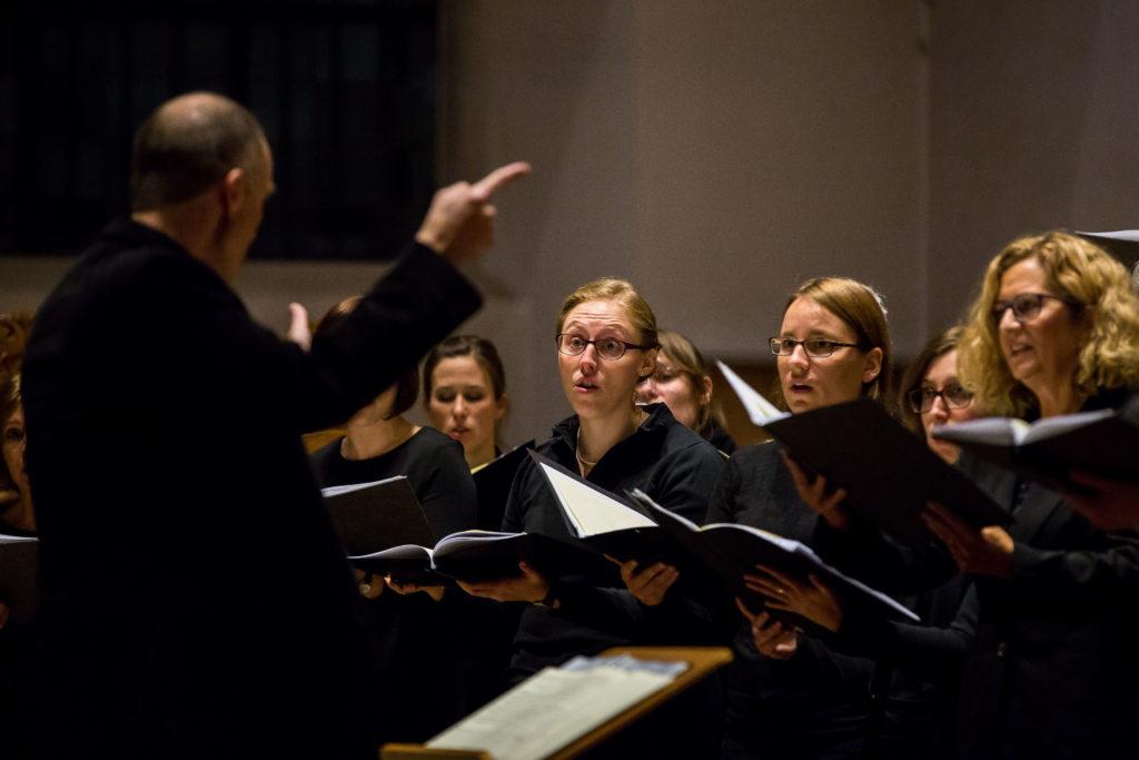 Sopranistinnen der Cappella Aquensis beim Gedenkkonzert in Aachen