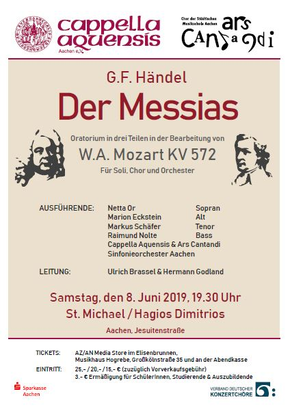 Handel's Messiah sung in German by Cappella Aquensis and Ars Cantandi